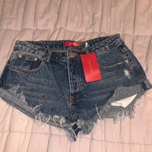 NWT Studded Jean Shorts